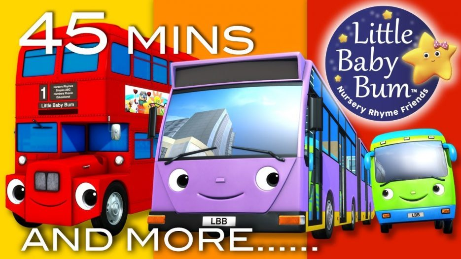 Bus Song | Different Types of Buses! | Plus More Nursery Rhymes | 45 Minutes from LittleBabyBum!