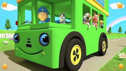 Green Wheels on the Bus   Kindergarten Nursery Rhymes & Songs for Kids   Little Treehouse S03E99
