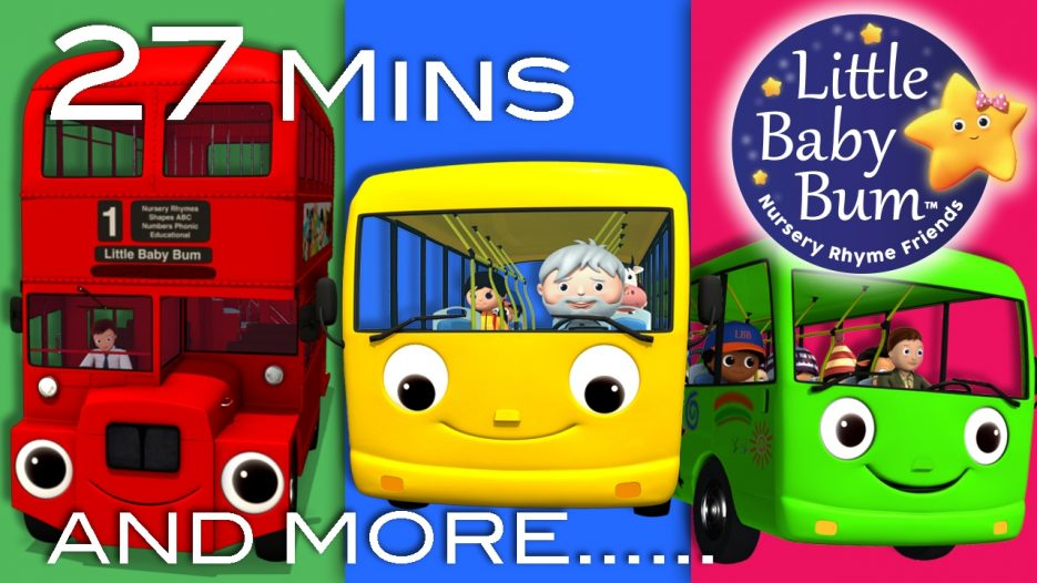 Wheels On The Bus   All the videos!   27 Minutes Compilation from LittleBabyBum!