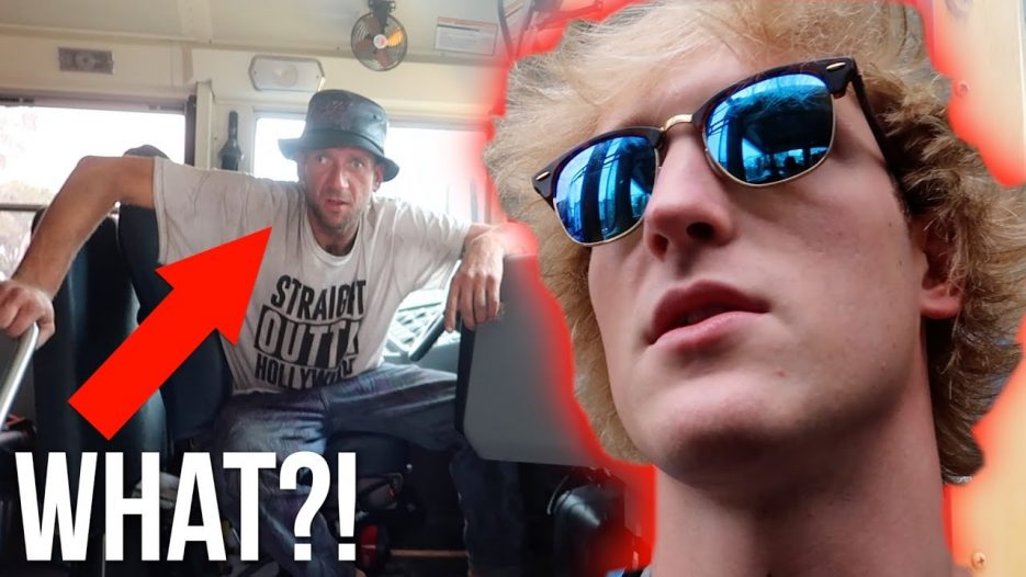 CAUGHT A GUY TRYING TO STEAL MY BUS! (raw)