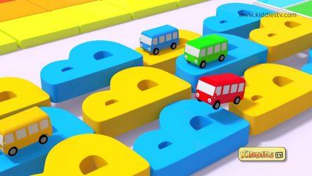 Wheels on the Bus Alphabets Rhyme | round and round | Kindergarten | Parents | Preschool  Kiddiestv