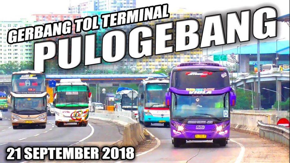 Banyak Bus Ngebut Disini — Hunting Bus di Tol Terminal Pulogebang Jakarta (21 September 2018)
