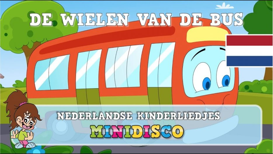 De Wielen Van De Bus | Kinderliedjes | TEKENFILM | Liedjes voor peuters en kleuters | Minidisco