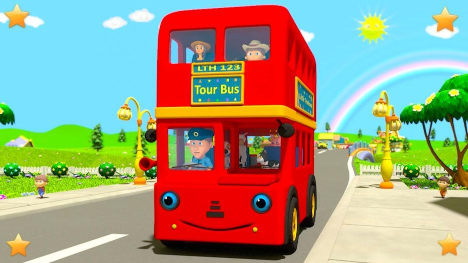 Wheels On The Bus   Kindergarten Nursery Rhymes & Songs for Kids