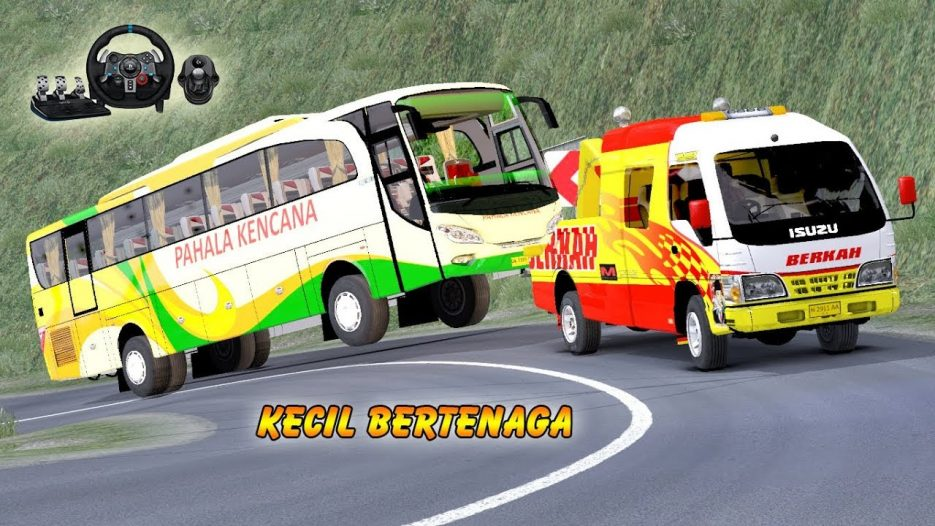 Truk kecil DEREK bus Besar Pahala Kencana    Euro Truck SImulator 2
