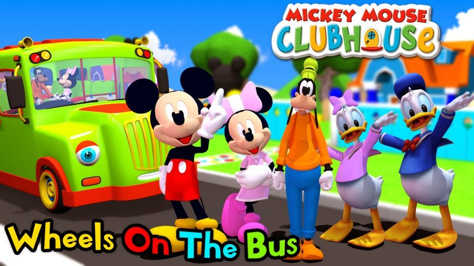 Mickey Mouse Clubhouse Wheels On The Bus | Nursery Rhymes and Kids Song | Binggo Channel