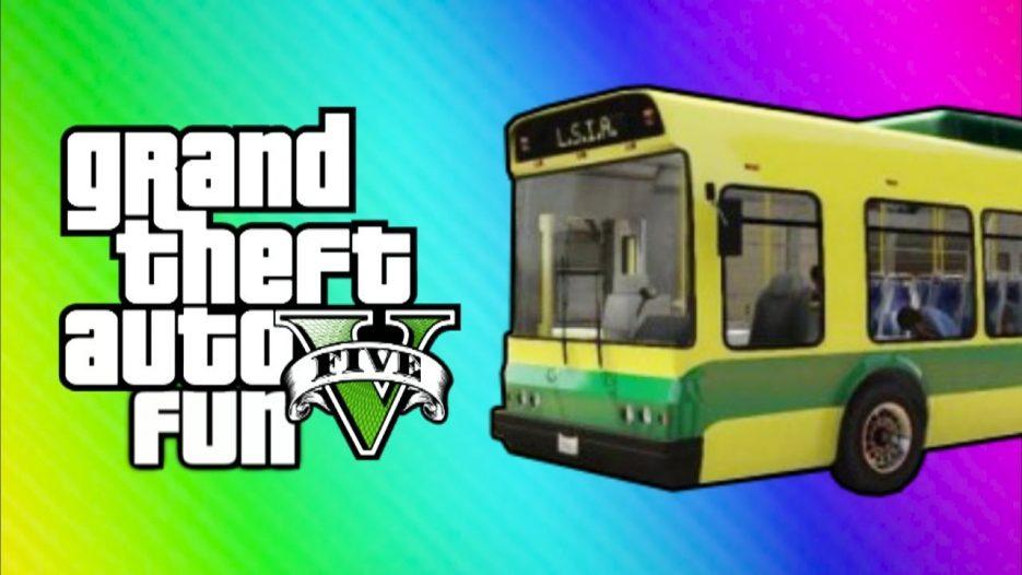 GTA Online Funny Moments — Home Run, Vehicle Glitch Fun, Banana Bus Launch, Vanoss Bus