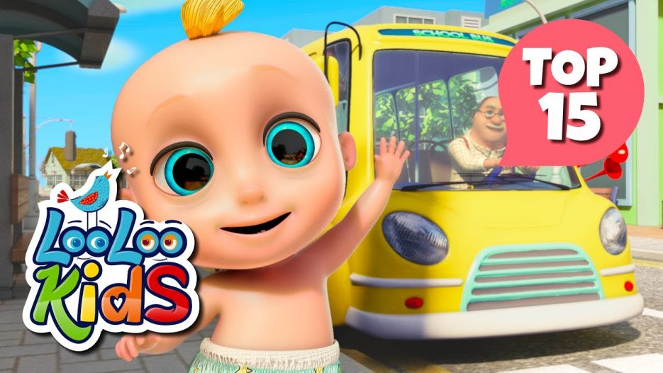 The Wheels on the Bus — TOP 15 Songs for Kids on YouTube