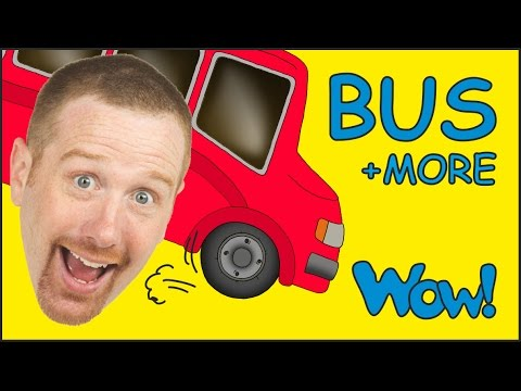 Wheels On The Bus and MORE from Steve and Maggie | Short Stories for Kids by Wow English TV