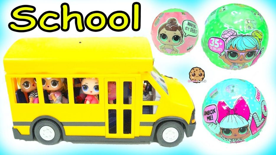 LOL Surprise Ride Bus + Go To School —  Lil Sisters Baby Dolls Blind Bag