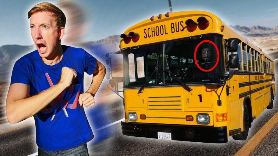 FOUND ABANDONED SCHOOL BUS (Exploring YouTube Hacker Evidence & Hidden Treasure Mystery Clues)