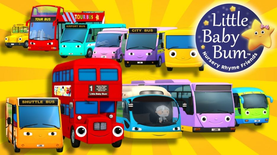 Bus Song   Ten Little Buses!   Nursery Rhymes   By LittleBabyBum!