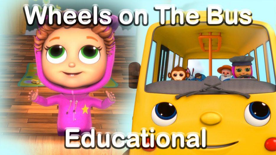 The Wheels on the Bus — Educational Nursery Rhymes with Baby Joy Joy