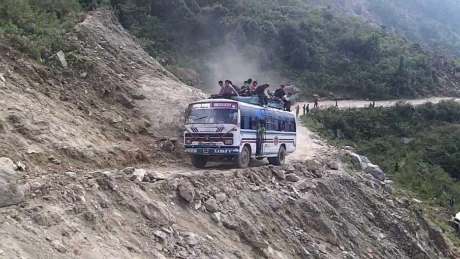 Nepali bus in troubles