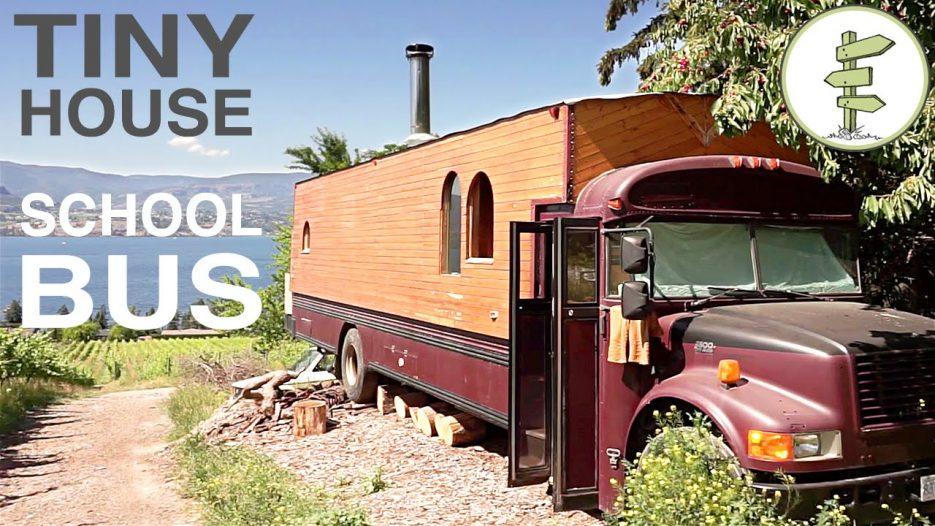 School Bus Converted into Full Time Tiny House — Amazing custom RV!