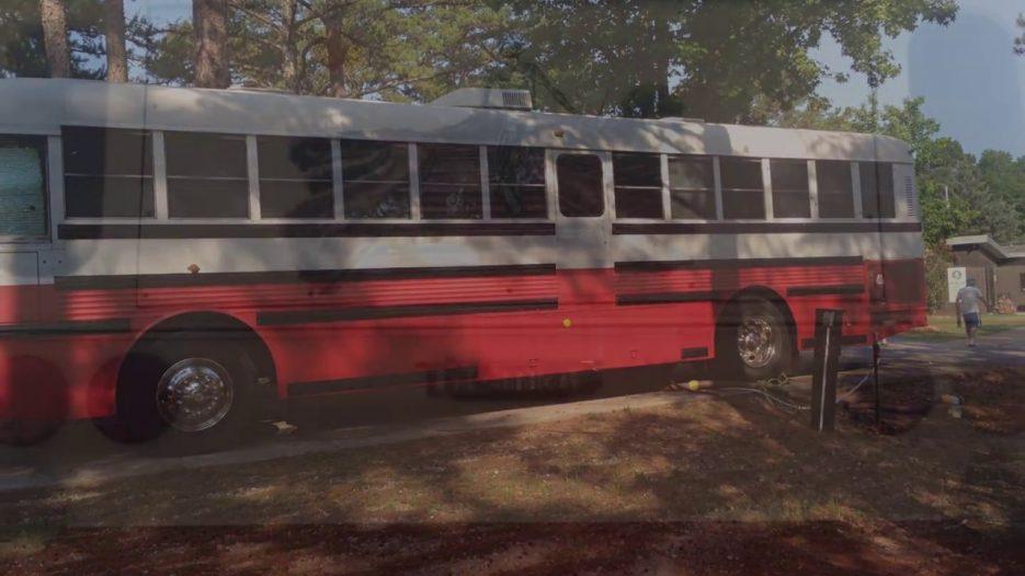 My Skoolie school Bus Conversion called:  Destination Unknown