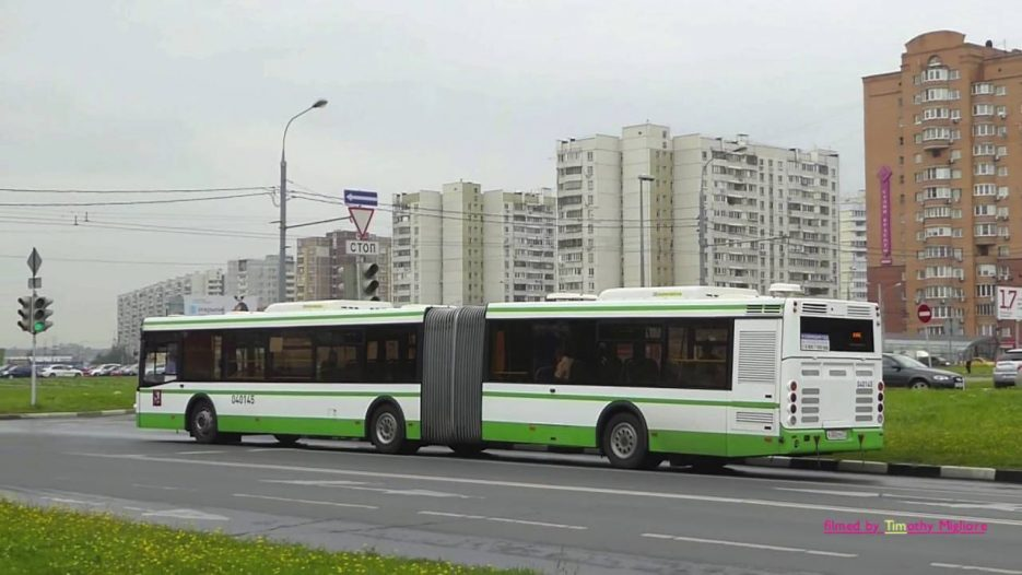 Buses in Moscow, Russia 2016. Автобусы в Москве