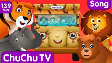 Wheels on the Bus — Wild Animals & Animal Sounds and Many more Nursery Rhymes Collection | ChuChu TV