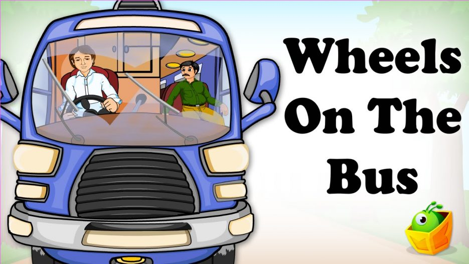 The Wheels On The Bus Go Round and Round   English Song   Animated Nursery Rhymes For Children