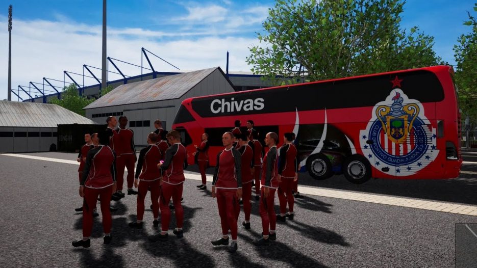 Chiva Bus   Neoplan Skyliner dos pisos   Ruta a Núremberg   Football Team Bus DLC