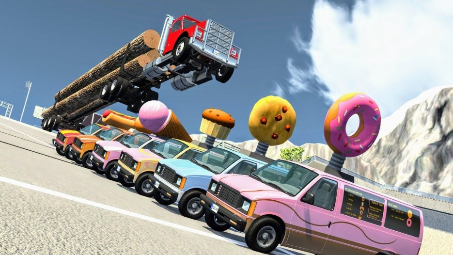 Crazy Truck & Bus Jumps #1 – BeamNG Drive Crashes   CrashBoomPunk