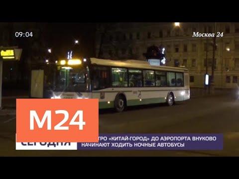 Ночные автобусы запустят между аэропортом Внуково и станцией метро «Китай-город» — Москва 24