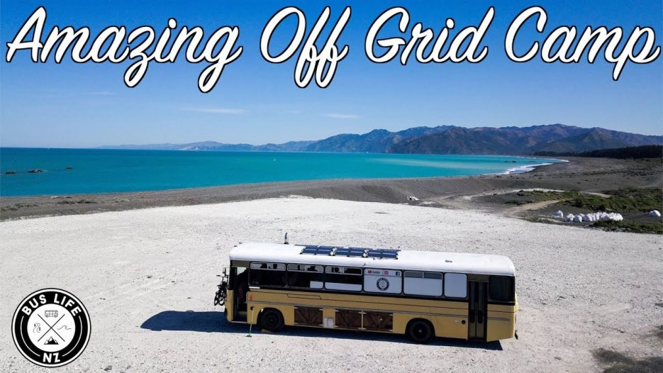Incredible off grid free camping in Kaikoura  | Bus Life NZ Family Vlog | Ep. 152