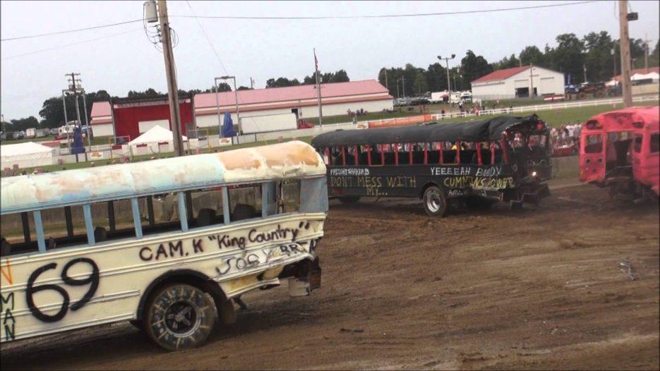 School Bus Demolition Derby — 2015 — Big Butler Fair