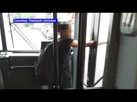 Bus driver closed door on girl's arm and kept driving, passengers say