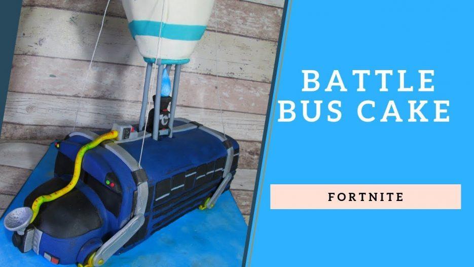 Fortnite Cake — Battle Bus Cake