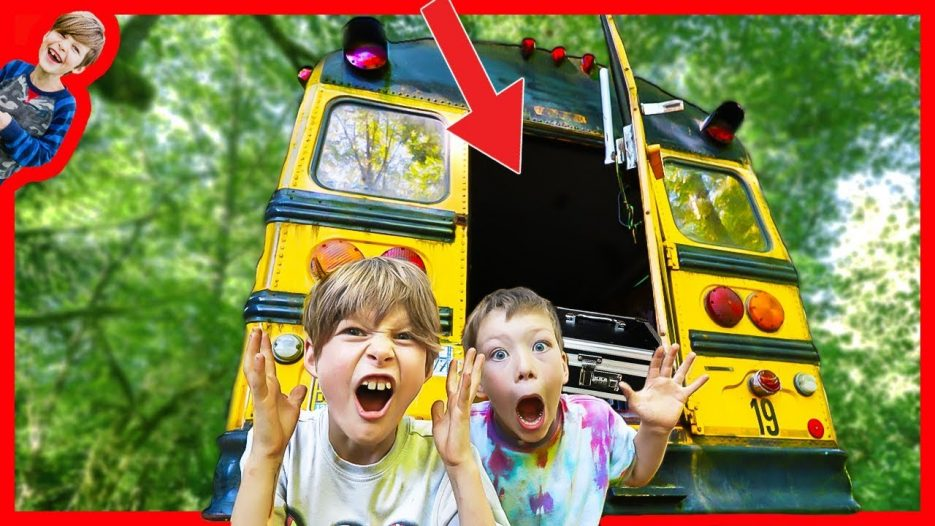 WE OPENED THE ABANDONED SCHOOL BUS! (FOUND HIDDEN SAFE INSIDE)