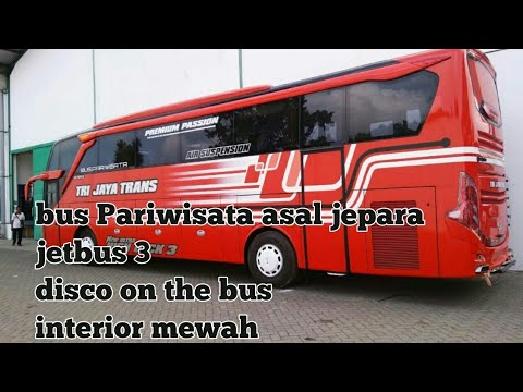 Bus pariwisata baru asal jepara Trijaya trans full variasi.