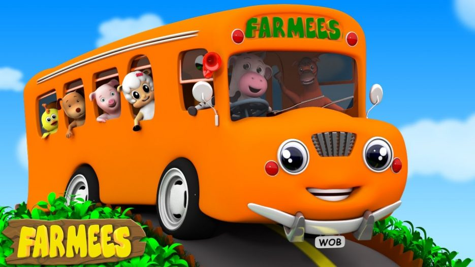 Wheels On The Bus Go Round And Round   Nursery Rhymes   Baby Rhymes   Kids Songs by Farmees