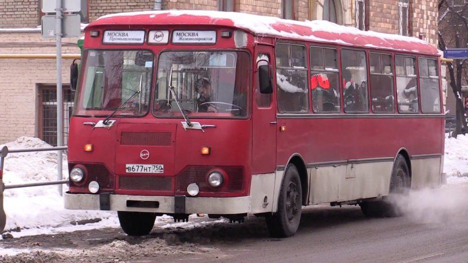 Автобус Лиаз-677М — поездка по Москве