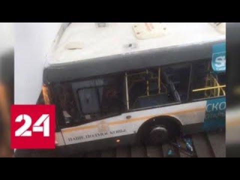На западе Москвы автобус врезался в группу людей. Есть жертвы — Россия 24