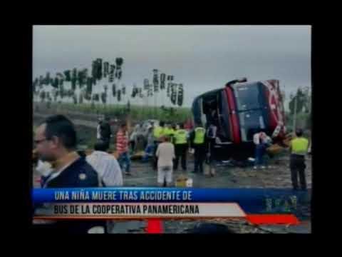 Niña muere tras accidente de bus de la Cooperativa Panamericana
