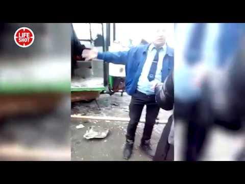Водитель автобуса сбившего остановку на Сходненской улице в Москве