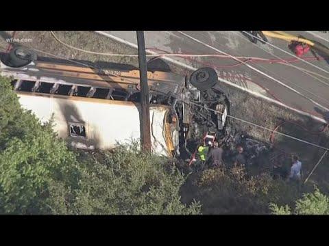 One student dead, 3 hurt in school bus crash