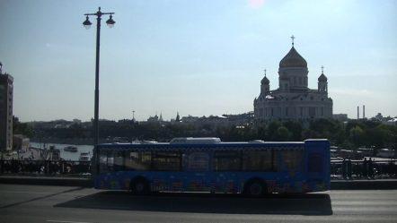 Москва.  Вид из туристического автобуса  —  (12)