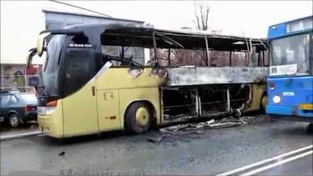 На юге Москвы сгорел автобус «Москва-Новомосковск»