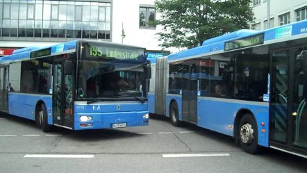 Buses in Munich, Germany — Bus in München