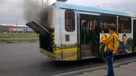 В Нижнем Новгороде загорелся автобус! 07.август.2017 в 10:00