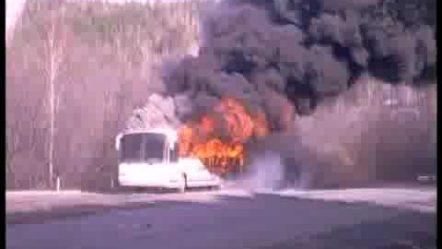 new bus on fire/сгорел за 5 минут новый курганский автобус