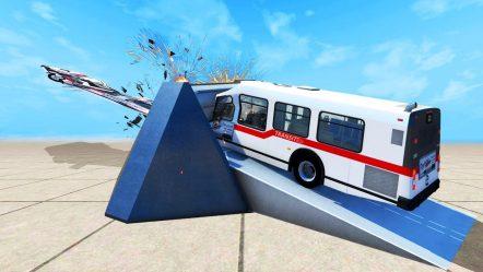 GRINDER VERSUS BUS! — BeamNG Drive