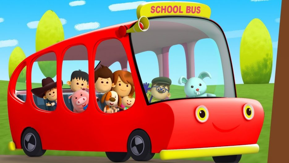 Red Wheels On The Bus Go Round And Round   Nursery Rhymes Playlist For Kids