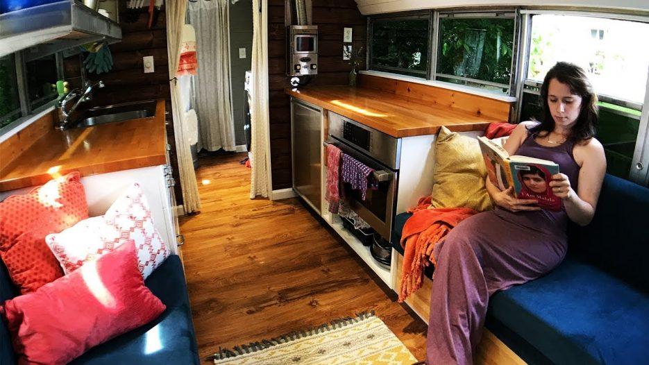 Tiny House School Bus Conversion — New Tour!