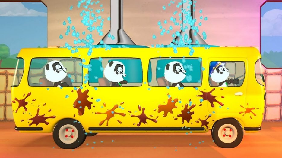 Paint a Bus, Learn the Colors and the Color Song in Panda Bo`s Fun Bus Trip