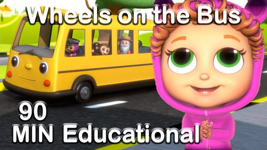 Wheels on the Bus   Educational Nursery Rhyme Compilation