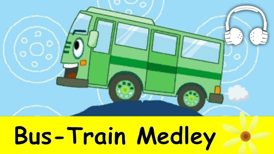 Wheels on the Bus &  Bus Train Medley   Nursery Rhymes Collection