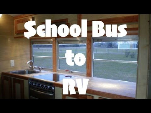 1995 International School Bus Transformed into Luxury RV